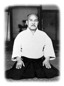 O Sensei in seinem Dojo