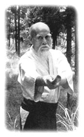 O Sensei beim täglichen Üben mit Bokken